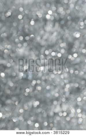 Abstract Christmas Background, Defocused Lights With Bokeh Highlights
