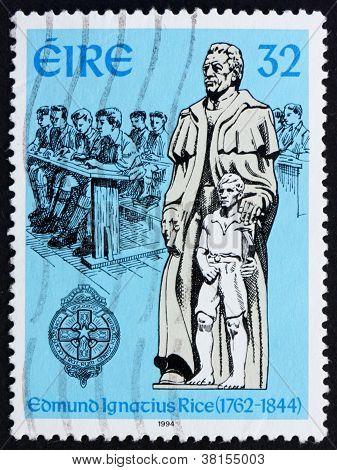 Postage stamp Ireland 1994 Edmund Ignatius Rice, Philanthropist