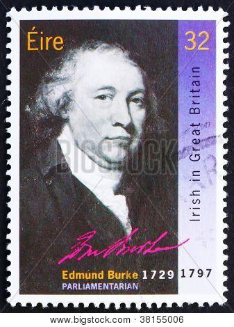Postage stamp Ireland 1990 Edmund Burke, Statesman
