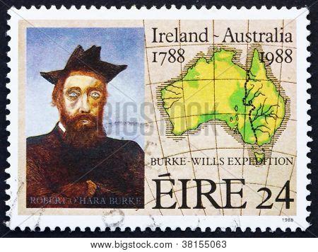 Postage stamp Ireland 1988 Robert O'Hara Burke