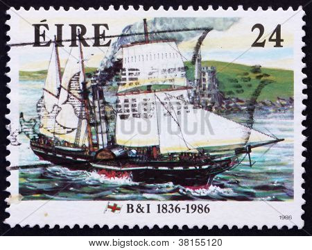 Postage stamp Ireland 1986 Steamer Severn, 1836