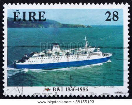 Postage stamp Ireland 1986 M. V. Leinster, 1986, Ship