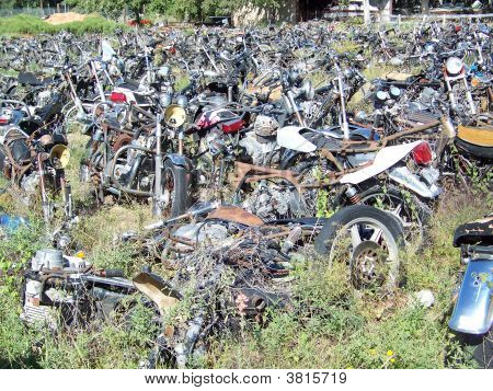 Motorcycle junk yard stock photo stock images bigstock for Motor cycle junk yard
