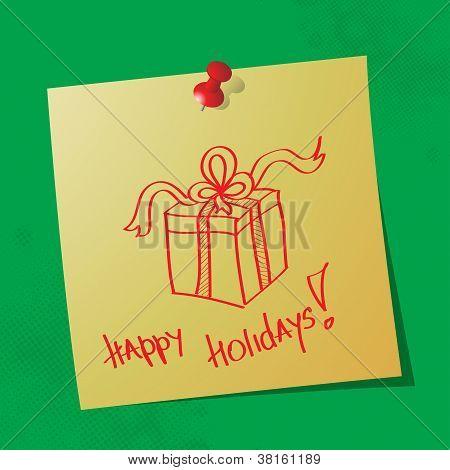 Happy Holidays Handwritten Message