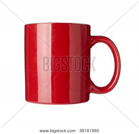 Red Coffee Cup Dished Dring