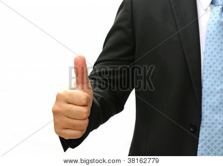 Business Man Hand Doing Symbol Good Job