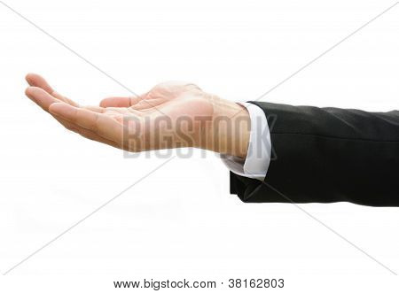 Business Man Hand Doing  Something