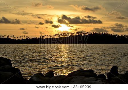 Sunset At Kohkood Thailand