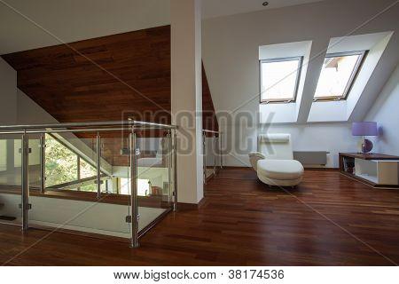 Mezzanine In A Modern House