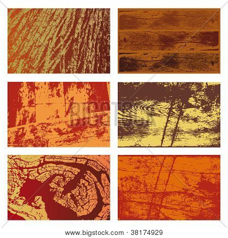 Conjunto de texturas de madera