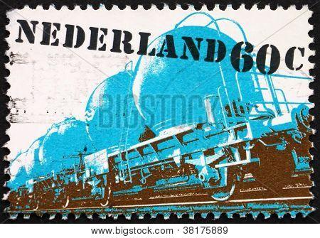 Postage stamp Netherlands 1980 Two-axle Railway Hoper Truck