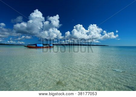 Blue Sky And Clouds In Havelock Island. Andaman Islands, India