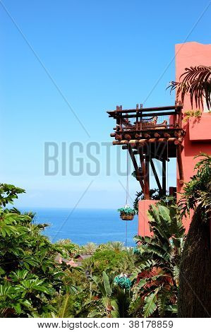 Building Of The Oriental Style Luxury Hotel, Tenerife Island, Spain