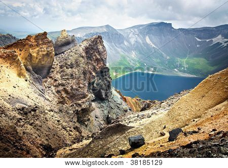 Volcanic Rocky Mountains, Wild Landscape, National Park Changbaishan, China