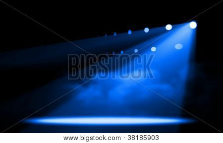 Stage lights. illustration.