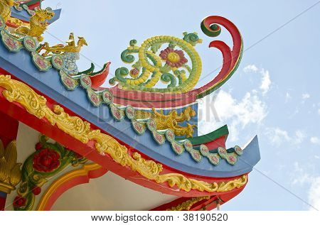 Chinease Temple Roof Shape