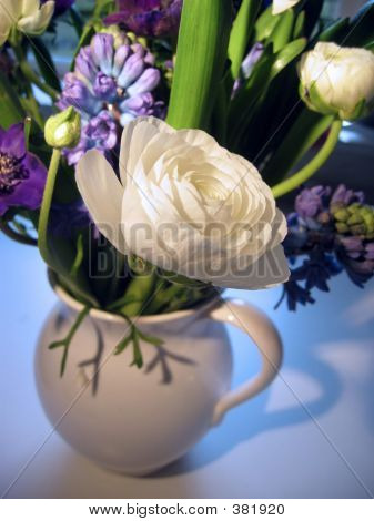 Spring Bouquet With Focus On Ranunculus