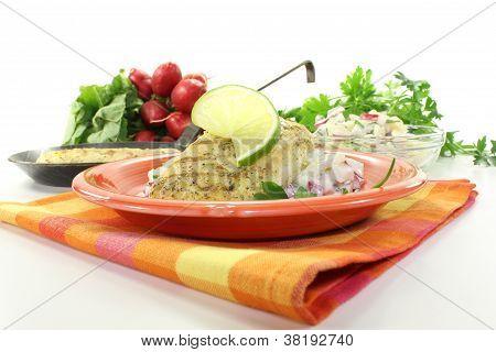 Hake On Potato Salad
