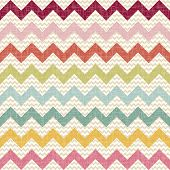 stock photo of chevron  - Seamless color chevron pattern on linen texture - JPG