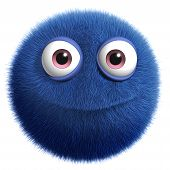Blue Cute Monster