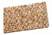 foto of wasa bread  - Close up of a crispbread with sesame seeds isolated on white selective focus  - JPG