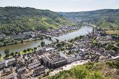 Aerial View Of German City Cochem Along The River Moselle