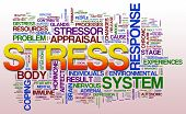 image of hypertrophy  - Illustration of word cloud related to stress - JPG