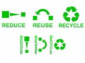 image of reuse  - Reduce reuse and recycle symbols concept illustration - JPG