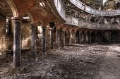 stock photo of church interior  - Old Theater  Hdr - JPG