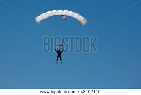 White Parachute Aproaching