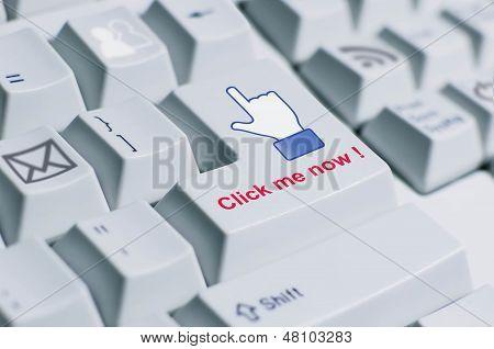 Click Me Keyboard Sign.