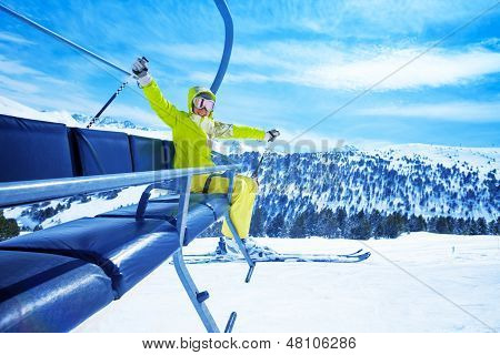 Enjoying Mountain Skiing