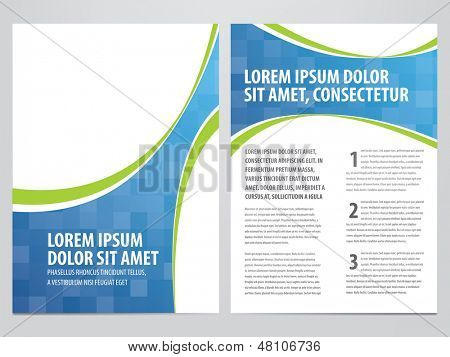 Folleto de negocios Vector, plantilla flyer