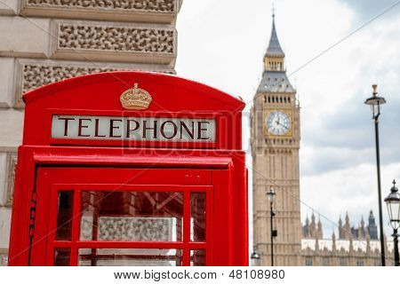Red Phone Booth. London, Uk