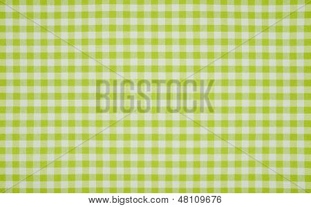 Green and white checkered tablecloth background pattern