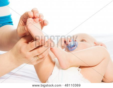 Massaging Baby Foot