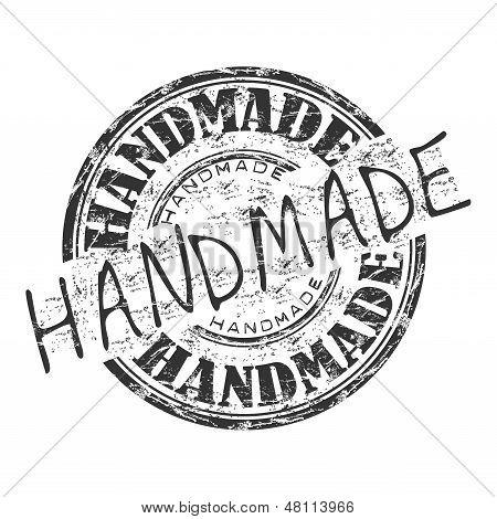 Handmade grunge rubber stamp