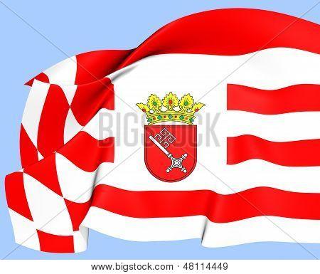 Flag Of Bremen, Germany.