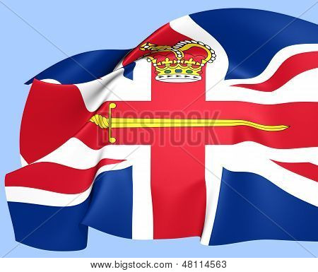 Flag Of A British Lord Lieutenant