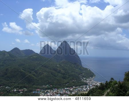 Piton Mountains Of St. Lucia