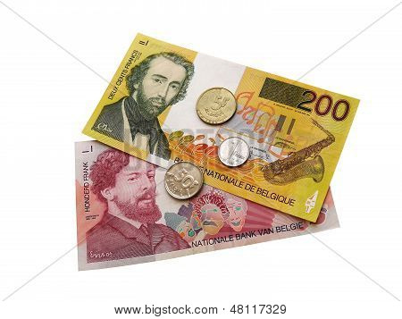 Belgian coins and banknotes