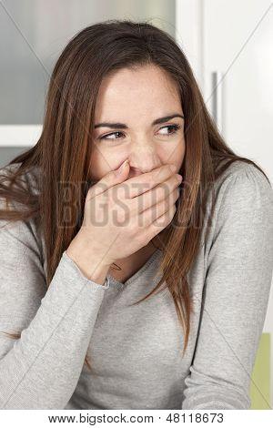 Young Woman Yawning