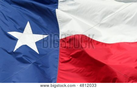 Texas State Flag Closeup