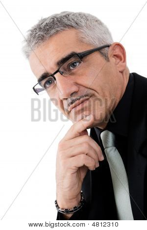 Mature Businessman Thinking