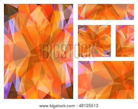 Abstract geometric background with colorful triangular polygons.