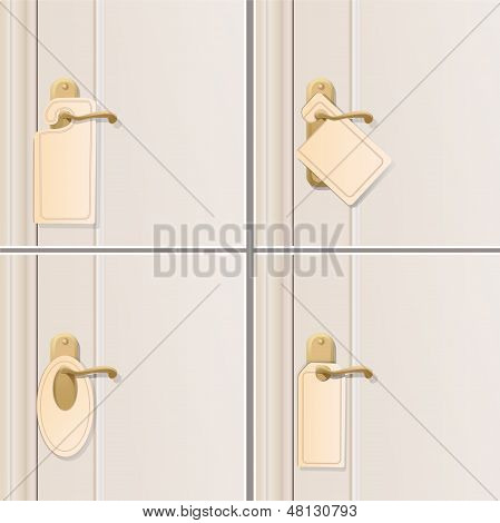 Set of Doorknob. Vector Design.
