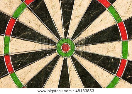 Dartboard close-up image