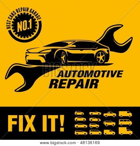 Car repair shop sign