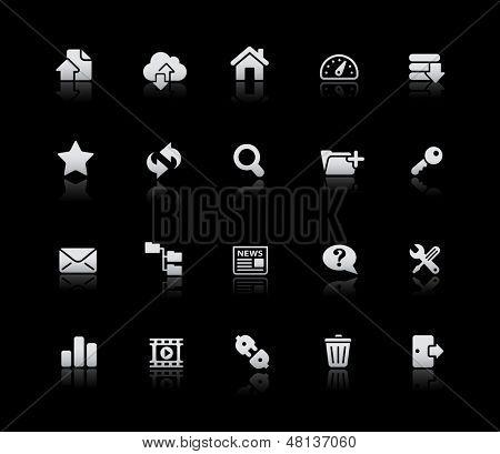 FTP & Hospedagem de ícones / / série prata