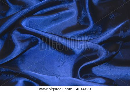 Blue Chinese Silk
